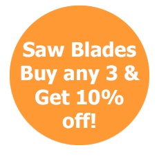 SAW BLADES  any 3 10% off