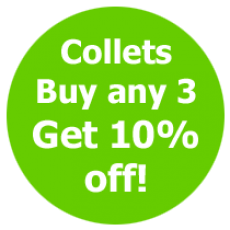 Collets any 3 10% off