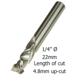 1/4 Ø COMPRESSION 2F x 22mm x 4.8mm up/cut x 1/4M